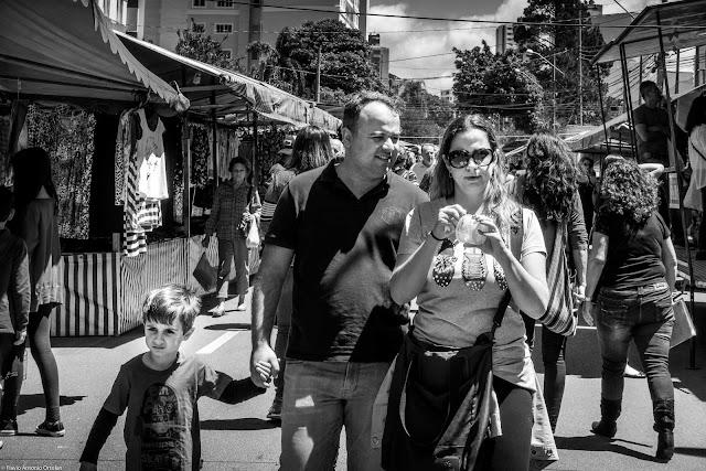Pessoas na feira