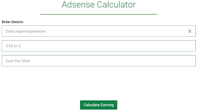 Google Adsensee revenue calculator