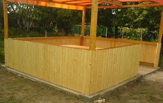 foisor din lemn pentru gradina, construire foisor din lemn pentru gradina, constructii, tamplarie, zidarie,