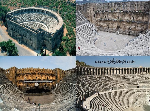 Aspendos Antik Kenti Etkinlikleri : Aspendos tiyatrosu Özellikleri tarihi ve hikayesi