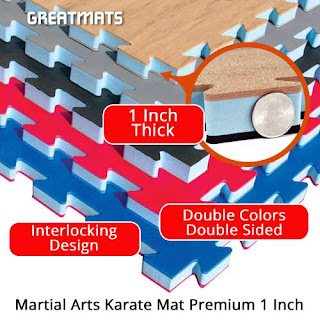 Greatmats Martial Arts Karate Premium Mat wood look floor