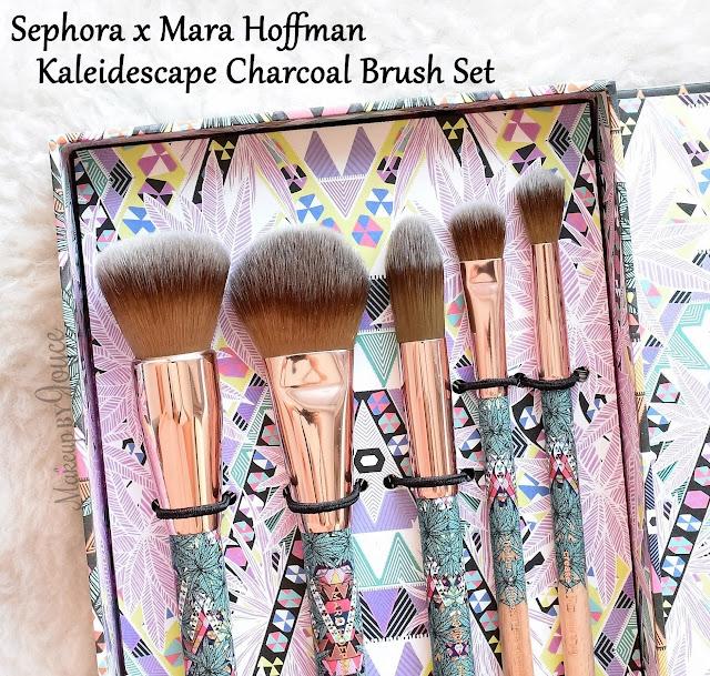 Sephora Mara Hoffman Kaleidescape Charcoal Brush Set Review