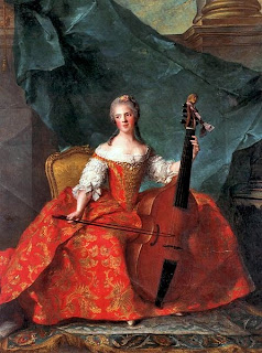 Portrait of Madame Henriette playing the Viola da Gamba by Jean-Marc Nattier, 1754