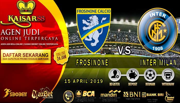 Prediksi Bola Terpercaya Frosinone vs Inter Milan 15 April 2019