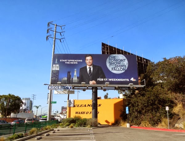 Tonight Show Jimmy Fallon billboard Sunset Strip