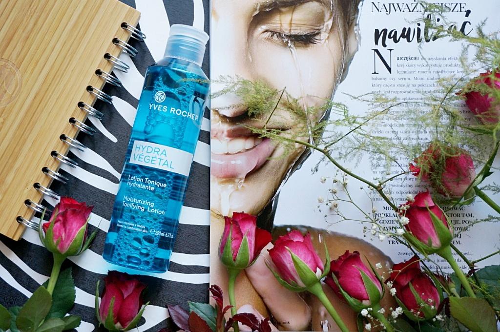 Yves Rocher Hydra Vegetal tonik oczyszczanie pielęgnacja twarzy