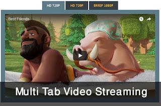 Multi tab video streaming para Blogger