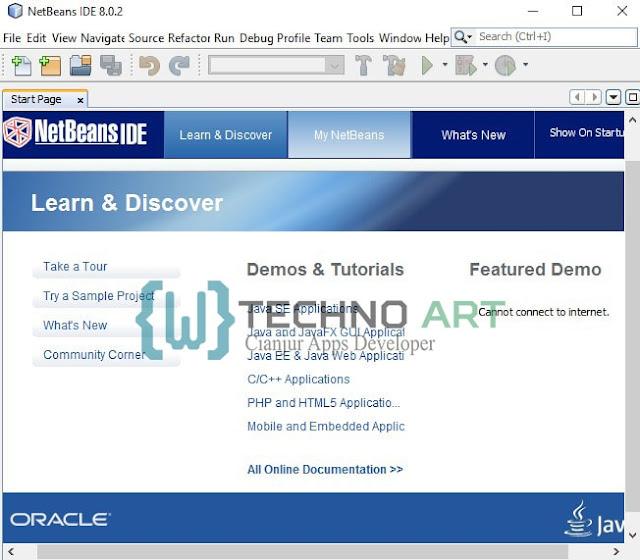 Tampilan Netbeans IDE