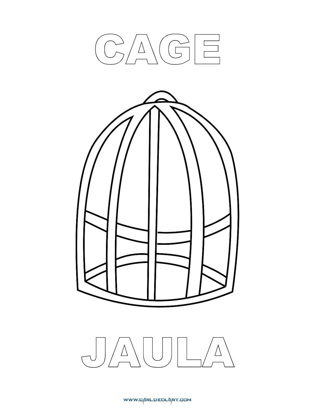 Dibujos Inglés Español Con J Jaula Cage
