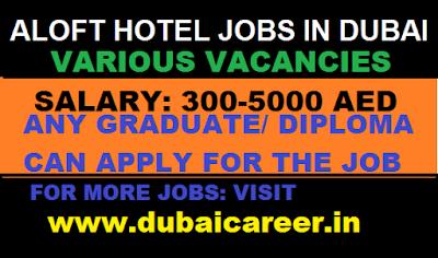 Jobs In Hotel Aloft Dubai March 2019 Dubai Career Dream Jobs At