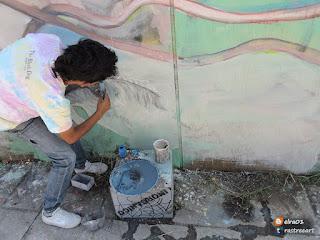 proceso para hacer un mural