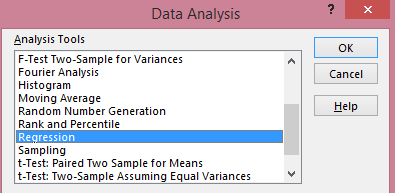 Excel - Data Analysis Dialogue Box from cruncheconometrix.com.ng