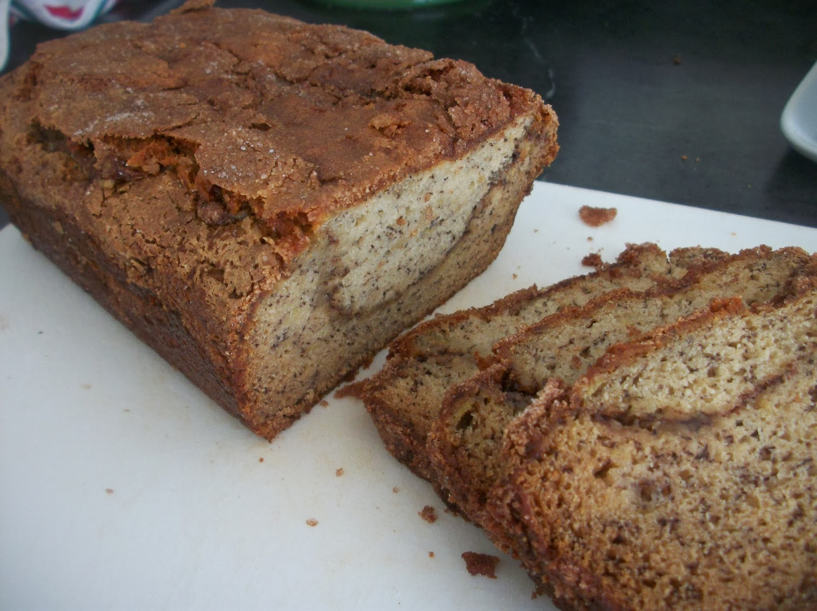 Cook with Sara: Cinnamon Sugar Banana Bread