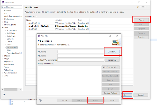 How to install and attach JRE to Eclipse