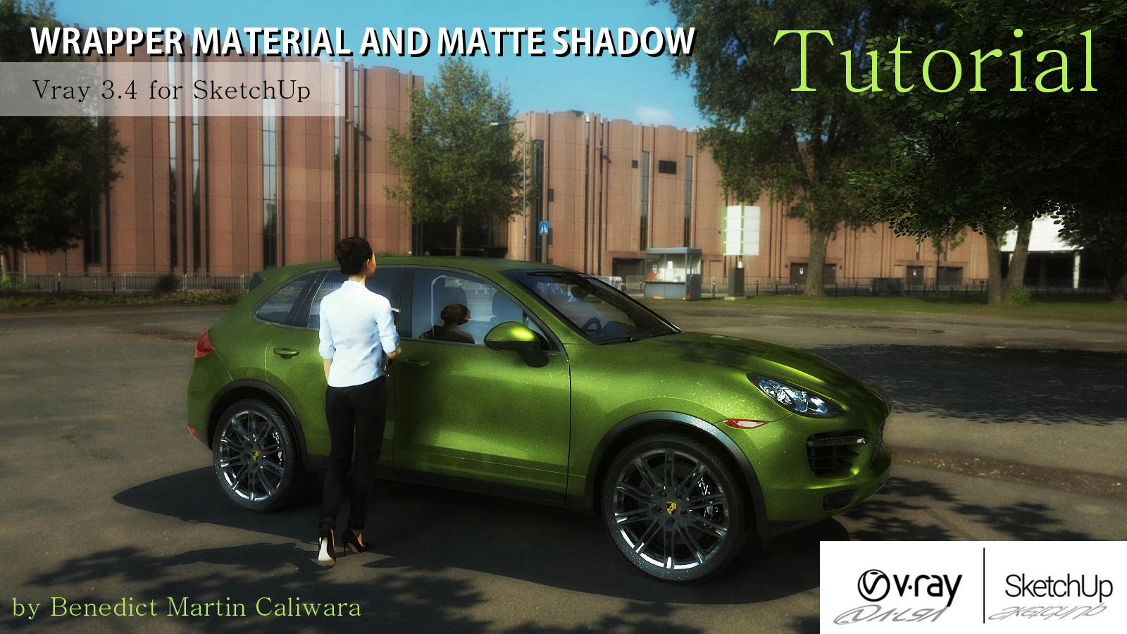 WRAPPER MATERIAL AND MATTE SHADOW Tutorial (Vray 3 4 for
