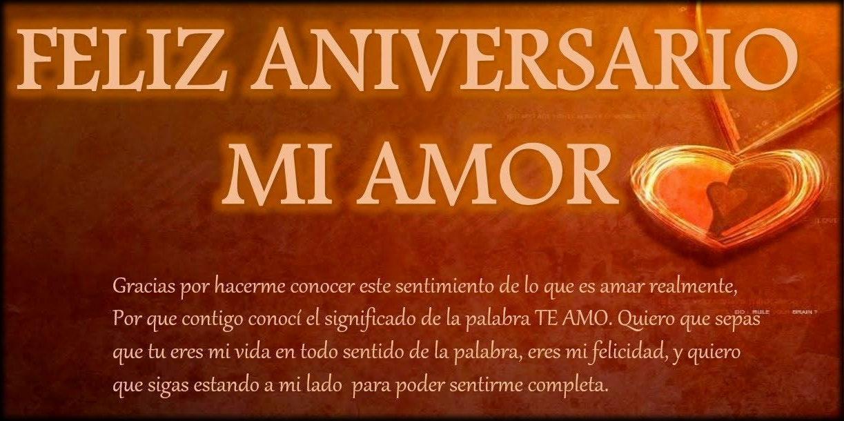 Feliz Aniversario Mi Amooor Te Amo Te Amo Te Amo: Feliz Aniversario Que Dios Te Bendiga En Este Bello Y