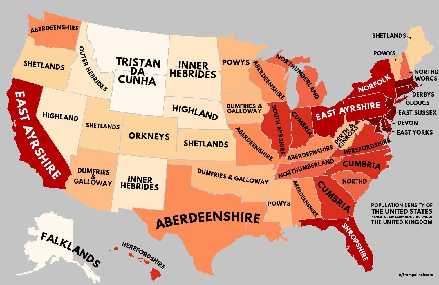 Worksheet. Population density of United States with United Kingdom