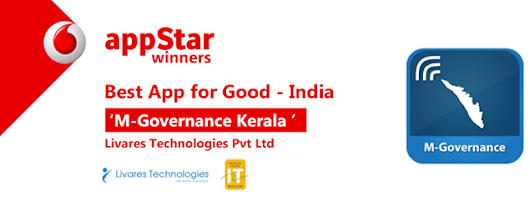 Livares won the Vodafone ‪#‎Appstar‬ 2014 award for 'the best app for good - India'