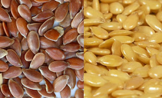 Gambar Jenis biji rami cokelat dan emas