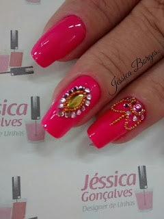 unhas decoradas com joias de unhas decoradas 2017 tendencias