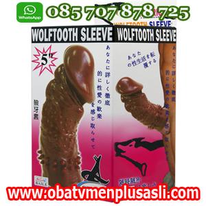 KONDOM WOLFTOOTH SLEEVE BERGERIGI SILIKON, kondom berduri, kondom silikon, kondom pria, kondom sambung, kondom pembesar alat vital pria, kondom pembesar mr p