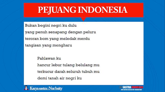 Puisi untuk Pahlawan PEJUANG INDONESIA | 34 Sastra Indonesia