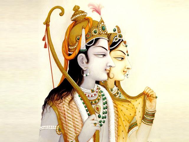 Lord Ram & Sita Painting  Wallpaper