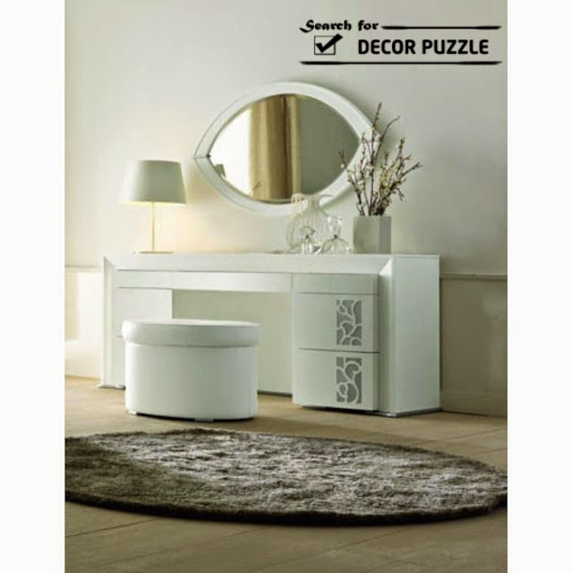 contemporary dressing table designs, modern white dressing tables