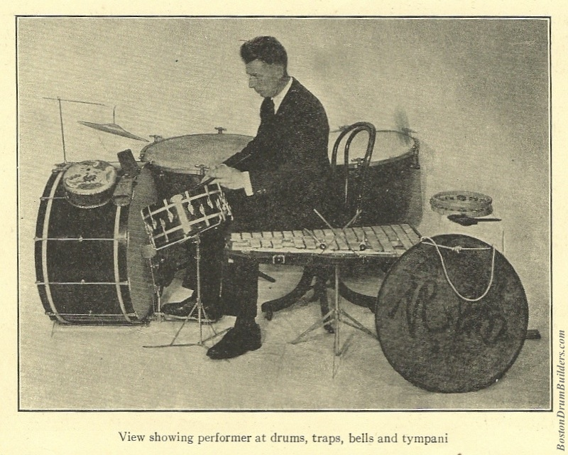 Geo. Stone Drumset from 1927 Gardner Method