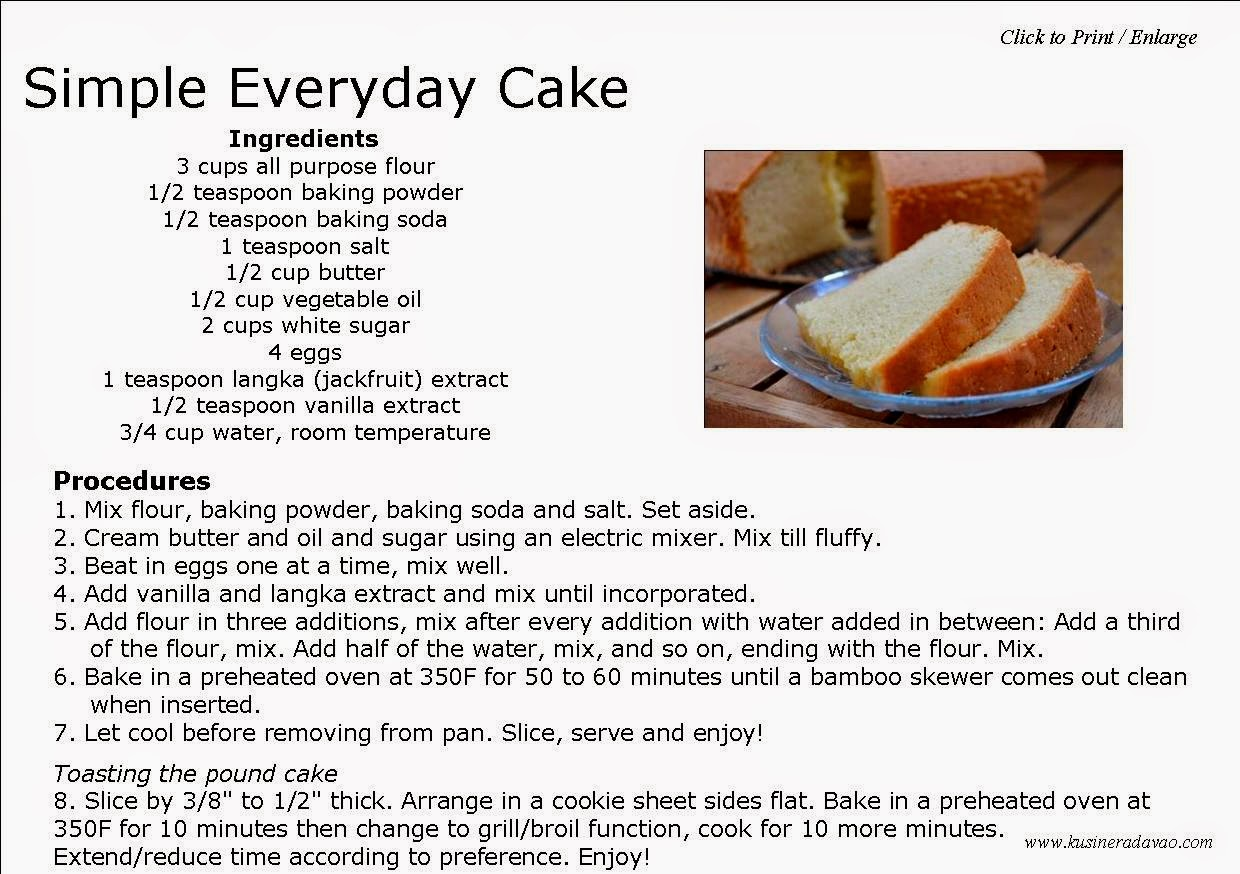 Basic Lemon Cake Recipe