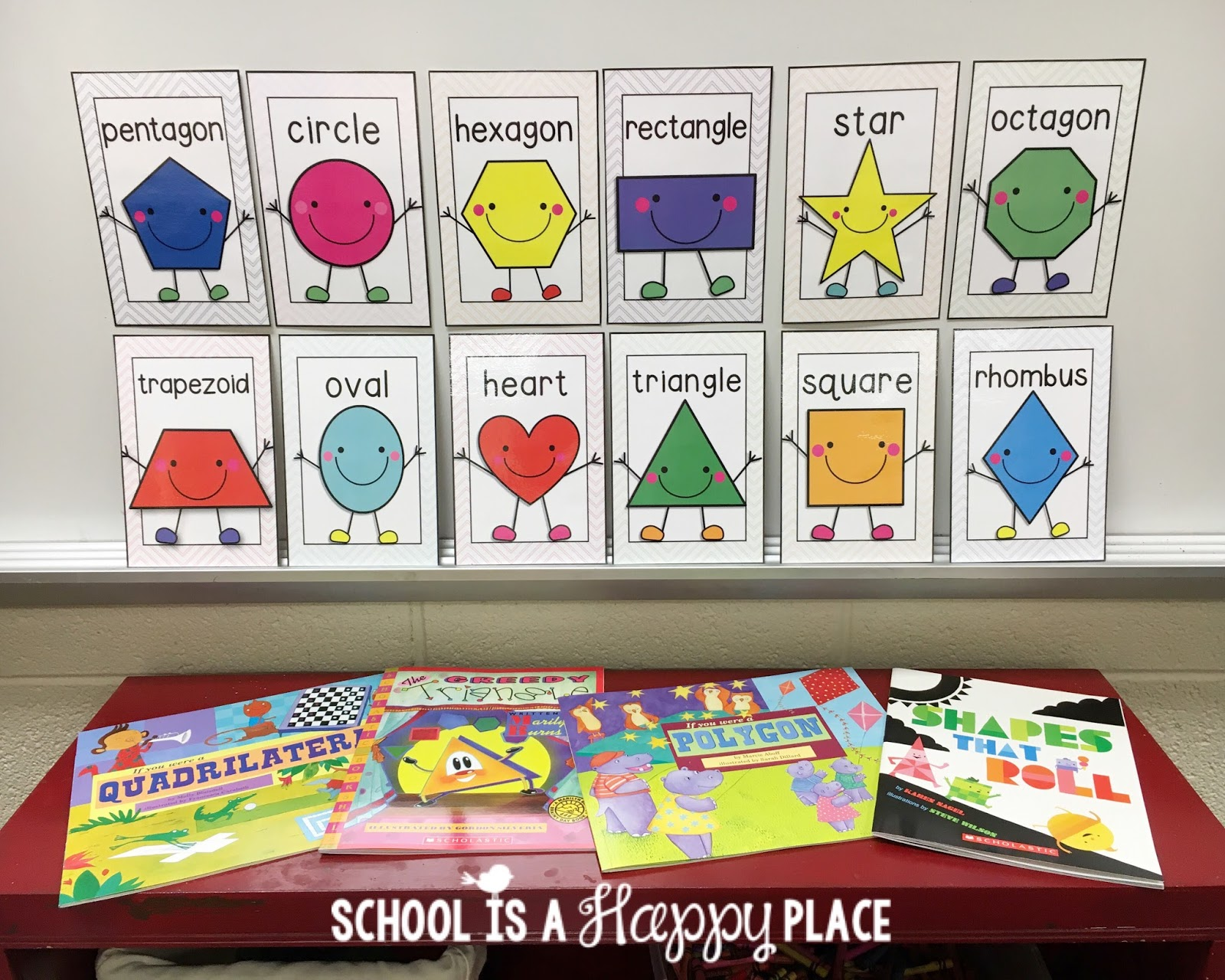 School Is A Hy Place You Better Shape Up Activities For 2d And Shapes Including Free Set Of Anchor Charts