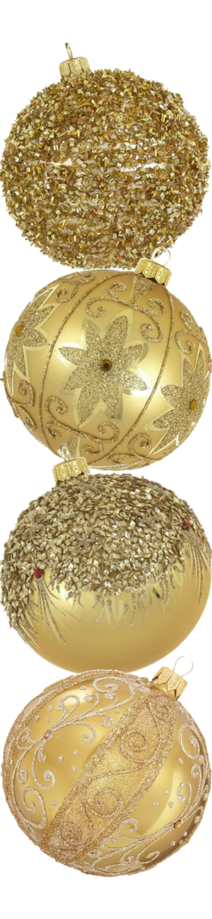 Dagmara Assorted Glass Ball Gold Ornaments