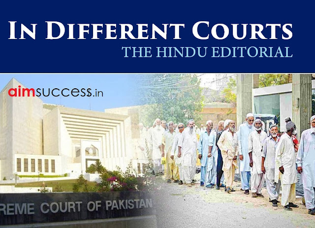 In Different Courts THE HINDU EDITORIAL