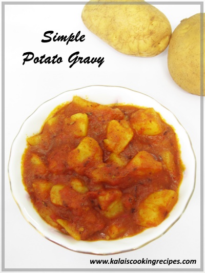 potato urulai kizhangu gravy