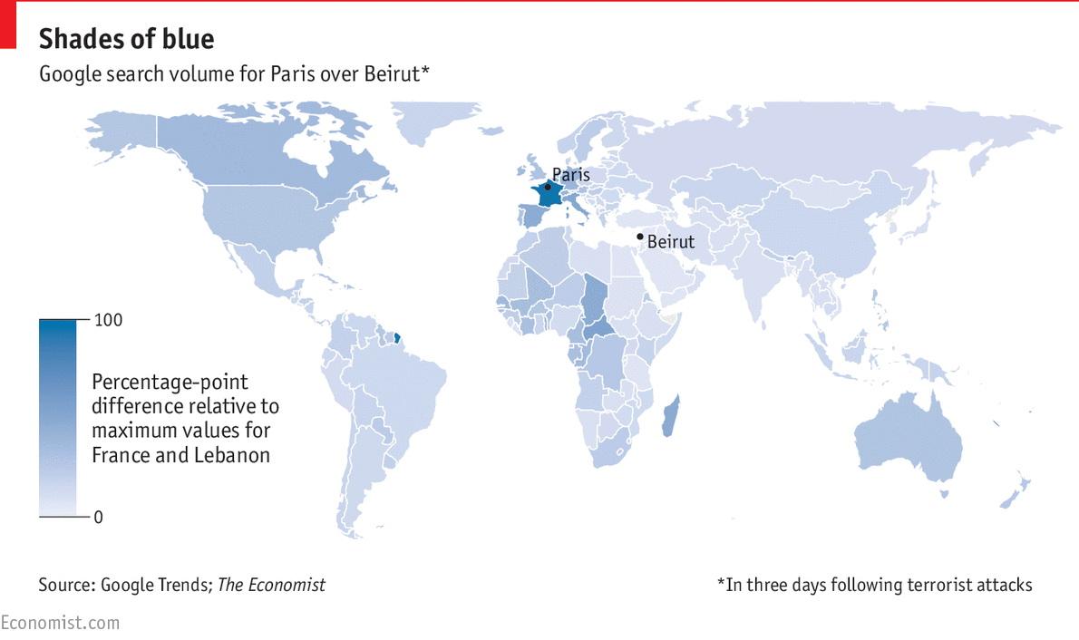 The global empathy gap between Paris & Beirut