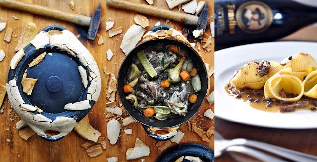 Lamm aus dem versiegelten Schmortopf mit Pasta