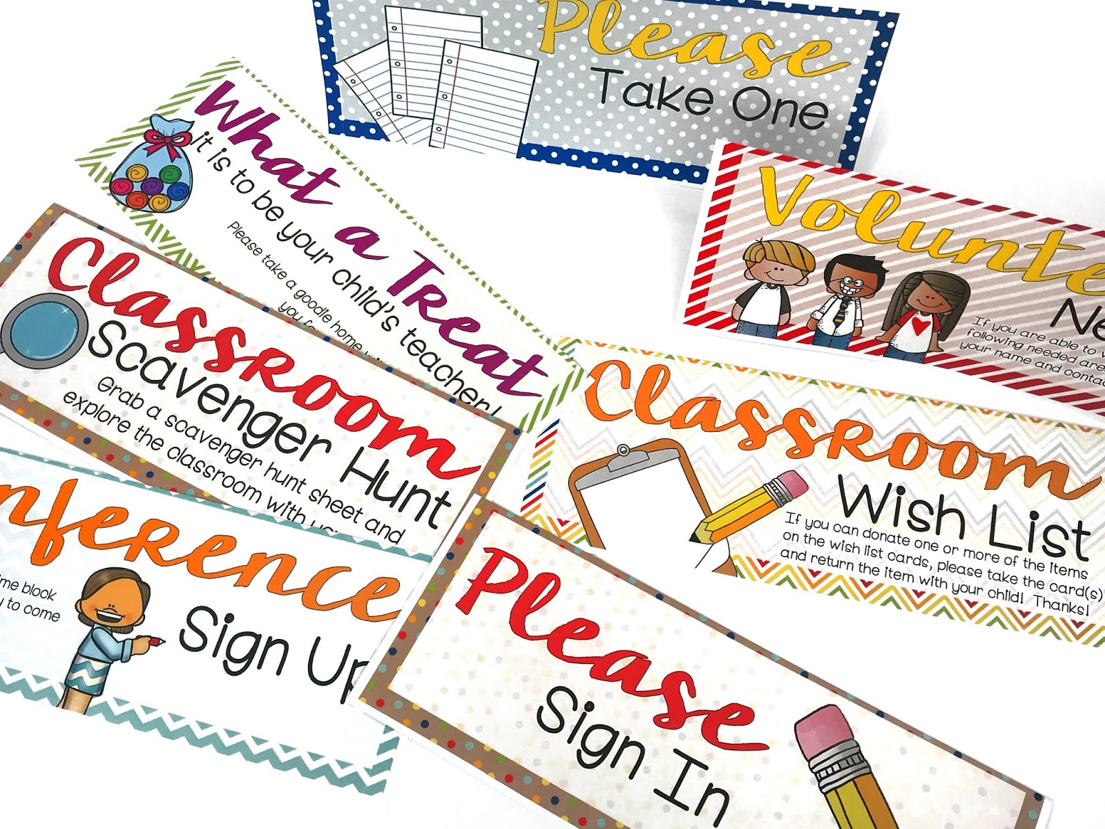 open house signs for parents to make it easy for them to find what they need in your class during their visit