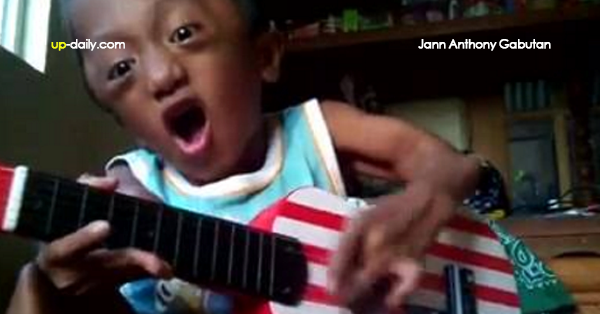 Little Guy Playing On A Little Guitar, Inspires Big And Gave Loads Of Cheers And Happiness to Netizens