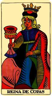 Tarot de Marsella: Reina de Copas