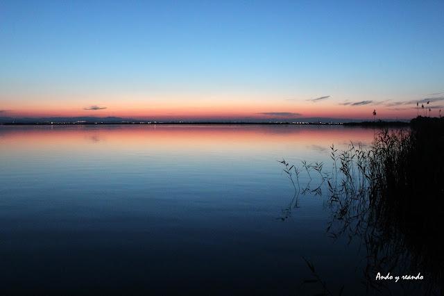 Crespúsculo en la Albufera-Valencia
