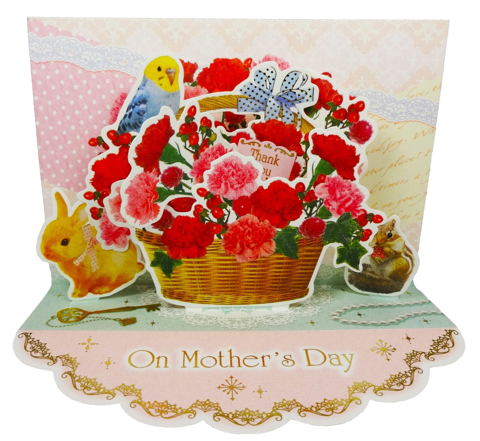 Lovely Bouquet On Mother's Day Pop Up Greeting Card