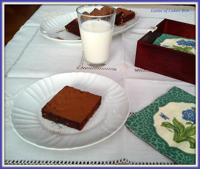 Merienda de Brownie de chocolate y nueces