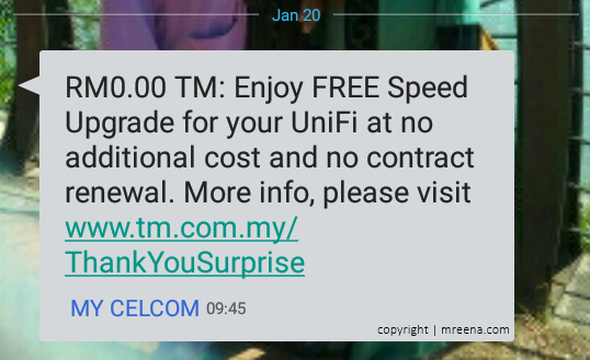 Nikmati Tawaran Naik Taraf Unifi Percuma
