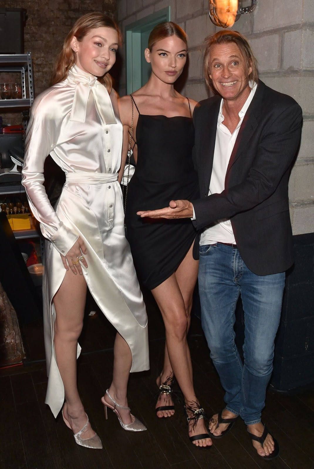 Gigi Hadid and Martha Hunt at Backstage Secrets
