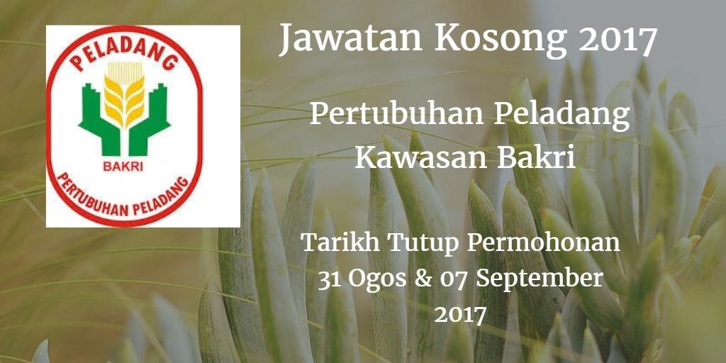 Jawatan Kosong Pertubuhan Peladang Kawasan Bakri 31 Ogos & 07 September 2017