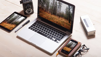 Apple iPad, MacBook, iPhone & Vintage Camera