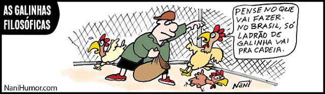 Resultado de imagem para ladrão de galinha charge