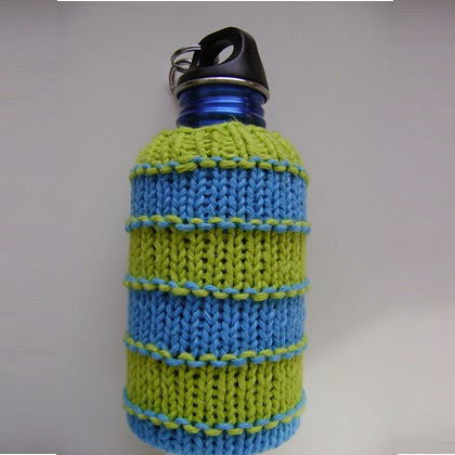 Super Stripey Water Bottle Cozy - Free Pattern