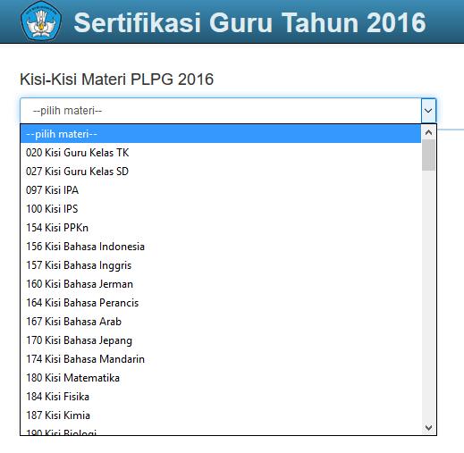 Download Kisi-kisi PLPG 2016 Semua Bidang Studi