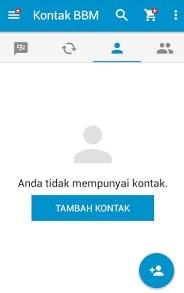Antar Muka Akun BBM di Android